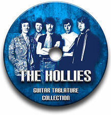 THE HOLLIES POP GUITAR TABS TABLATURE SONG BOOK SOFTWARE CD