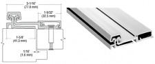 """CRL Satin Anodized 150 Series Heavy-Duty Full Surface Continuous Hinge - 95"""""""
