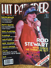 Hit Parader Magazine 6/78 David Bowie Sex Pistols Rod Stewart Meatloaf ELP