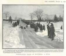 1902 Tobogganing Races Held On The Park Slide At Montréal