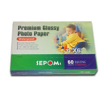 "Lot of 5 SEPOMS High Glossy 4"" x 6"" Premium Photo Paper 60 Sheets 4.7 ¢ / sheet"