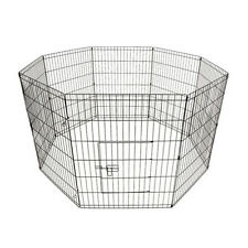 PUPPY PLAY PEN EXTRA LARGE 91CM ANIMAL CAGE 8 PANEL PET PLAYPEN DOG RABBIT