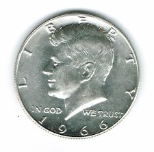1966  Philadelphia Brilliant Uncirculated Silver Strike JFK Half Dollar Coin!