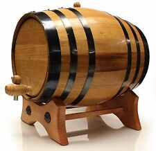 Oak Barrel 20 Liter w/ Black Rings &guide-Limited QTY Available- Guaranteed seal