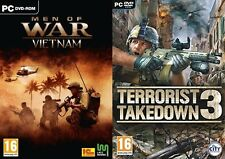 men of war vietnam & terrorist takedown 3 new&sealed