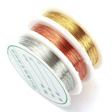 0.2 50M/Roll Wire To Bead Diy Bracelet Earring Making Jewelry Color Silver