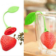 New Reusable Food Strawberry Shaped Bag Holder Tea Coffee Punch Tea Infuser
