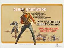 TWO MULES FOR SISTER SARAH Movie POSTER 30x40 Clint Eastwood Shirley MacLaine