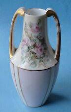 ROSENTHAL Art Nouveau Jugendstil PINK ROSE Antique Porcelain HANDLE AMPHORA VASE