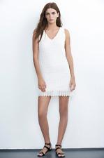 VELVET By Graham & Spencer Flora V Neck Spring Lace Tank Dress Off White S $148