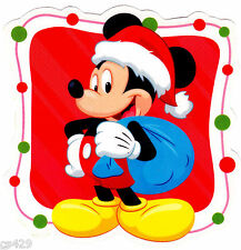 "5"" DISNEY MICKEY MOUSE CHRISTMAS HOLIDAY  WALL SAFE STICKER BORDER CUT OUT"