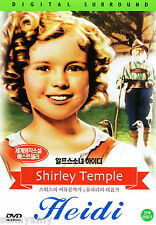 Heidi DVD - Shirley Temple Jean Hersholt- Colorized - Classic Film on DVD (NEW)