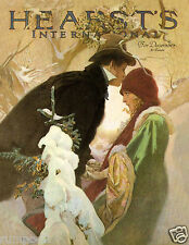Winter Scene Poster/Hearst Magazine Cover/Christmas Poster1922 Reproduction17x22