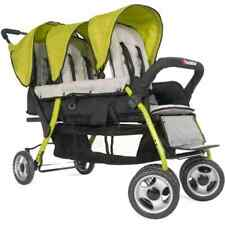 Childcraft The Trio Sport Triple Tandem Stroller, Lime
