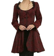 HEARTS AND ROSES OF LONDON VICTORIAN VAMPIRE BROCADE COAT STEAMPUNK GOTHIC SZ MD