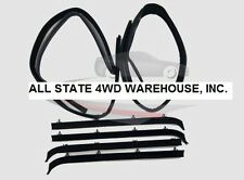 6 Piece Rubber Door Window Weatherstrip Seal Kit for 75-96 Chevy Full Size Van