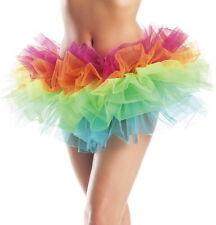 Adult Women Rainbow Organza Tutu Petticoat