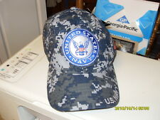 Liscensed US Navy Digital Camo Cotton Baseball Cap One Size embroidered seal