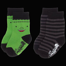 Sourpuss Clothing Monstruo Verde & Rayas Calcetines conjunto. una talla. Frankenstein,