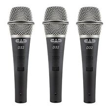 3 Pack Of D32 Supercardioid Dynamic Vocal Microphone With On/Off Switch D32 X3
