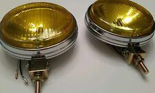bmw e10 e28 2002tii ti 1600 e30 chrome amber metal bumper mount fog lights pair