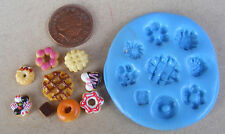 1:12 Reusable Silicon Rubber Biscuit Shortbread Mould Dolls House Miniature