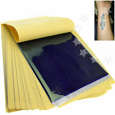 New 50 x Tattoo Thermal Carbon Stencil Transfer Paper Tracing Kit Art Supply