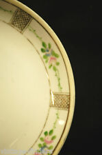Hand Painted China Bread & Butter Plate by Nippon w Flower Pattern & Gold Trim