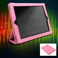 CASE COVER FLIP STAND POUCH PU LEATHER PINK FOR IPAD 2 2ND 3RD 4TH GENERATION