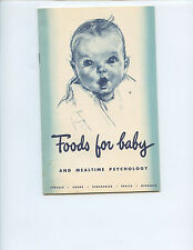 "1948 GERBER ""FOODS FOR BABY AND MEALTIME PSYCHOLOGY"" BOOK (31 PAGES, BEAUTIFUL)"