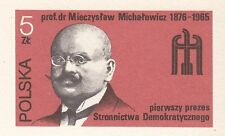 POLAND 1984 MINT Postcard Cp#889  45th, the Democratic Party from 1939 to 1984