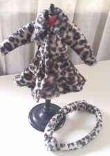 BLYTHE DRESS FUR LEOPARD PAINT COAT OUTFIT CLOTHING WITH HAIR BAND ACCESSORY