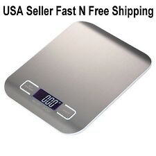 New Digital Kitchen Scale 11lb/0.05 ounces 5KG/1G Slim Electronic Multifunction