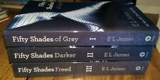 Fifty (50) Shades of Grey (Gray) All 3 Books Set Trilogy E L James FREED DARKER