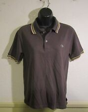 Women's LACOSTE Brown Short Sleeve Polo Shirt Size M