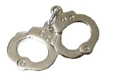 Handcuffs Hand Cuffs Tie Tack Tac Police Officer Sheriff Security Nickel P3605