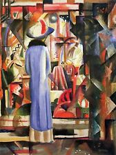August MACKE grandi Bright Showcase Old Master Arte Pittura Stampa 285oma