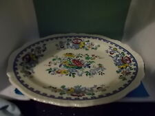 rare antique masons ironstone oval meat/serving plate(pat 5101) similar to nabob