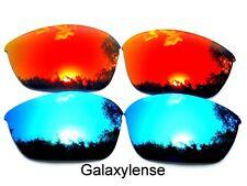 Galaxia Lentes De Repuesto Para Oakley Half Jacket 2.0 Rojo y Hielo Azul