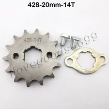 428 14 Tooth 20mm ID Front Engine Sprocket For CRF XR50 KLX SDG Pit Bikes