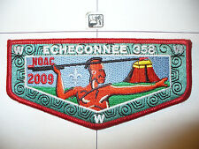 OA Echeconnee Lodge 358 S-31,2009 NOAC MSU,RED,Indian W/BLK Atlatl Flap,Macon,GA