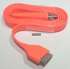 Flat USB Charge Sync Cable For Apple iPhone 3G/S 4/4S iPad iPod Touch Nano(Orang