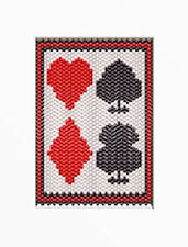 Playing Cards~Beaded Banner Pattern Only