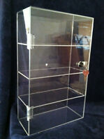 """AUGUST SPECIAL ..Acrylic Countertop Display Case 10"""" x 4.5"""" x 16.5"""" Locking Case"""