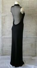Vtg Designer Lillie Rubin Sexy High-Neck Sheer Low Drape Back Evening Gown~S/M