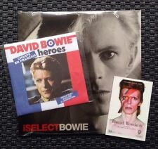 "DAVID BOWIE, iSELECT, LIMITED LP + HEROES, LIMITED 7"" PARIS (SEALED)"