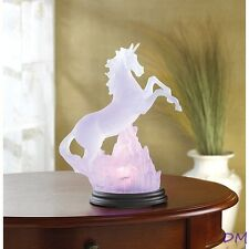 Frosted Unicorn Color Changing Light Sculpture Figurine