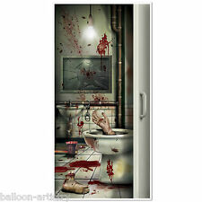 5ft Halloween Chop Shop Body Parts Flush Toilet Door Poster Cover Decoration