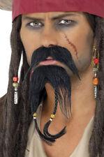 Jack Piraten Bart Set NEU - Karneval Fasching Bart Verkleidung
