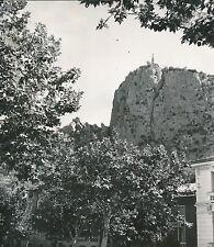 CASTELLANE c. 1920 -Vue sur le Roc La Chapelle Alpes-de-Haute-Provence - DIV8626
